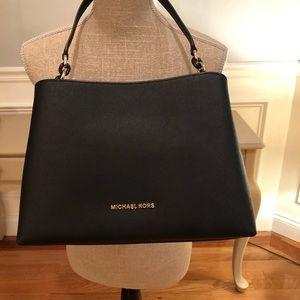 Brand New Michael Kors Black Saffiano Leather Bag
